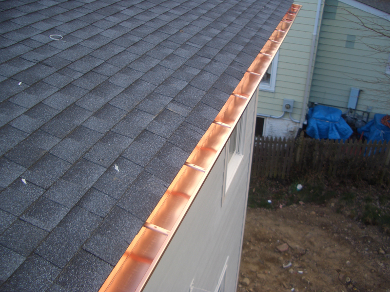 Copper gutters gutter systems new jersey and new york for New gutters