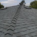close up of asphalt shingles