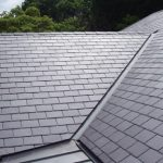 Close up of a slate roof